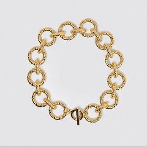 NWT. Zara Golden XL Link Metal Necklace.